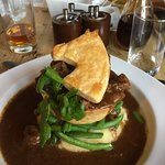 Tasty Steak & Ale pie - like the Horse pasty top!