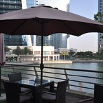 Outdoor seating view