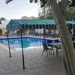 patio interno con piscina