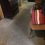 Grime trodden carpet from rooms to restaurant