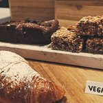 Vegan brownies and pastries