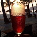 Sparkling wine am Bungalow