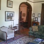 The formal front parlor, the site of many events and important meetings over the years.