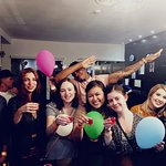 Balloons!! Drinks!! And friendly lovely people!! :D