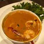 Red Thai curry prawn