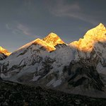 During sunset time  at Mt.Everest. Photo taken from Kallapathar 5545m.