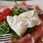 Mixed italian meats with Truffle Mozzarella