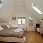 420, a double bedroom with twin beds overlooking the old orchard & with ensuite bathroom with sh
