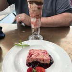 Sundae and Raspberry and Ginger Semifreddo with Berry Compote