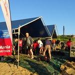 Les tentes on the beach