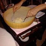 préparation en directe des pates aux truffes