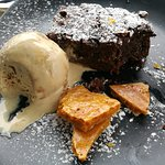 Choc brownie, salted caramel ice cream and honeycomb (so lovely I started eating it before takin
