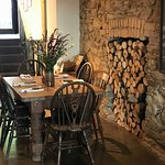 A perfect Lunch or Supper venue with friends - Local Wild flowers on the table