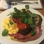 Morning breakfast - Sourdough Toast , Gorgeous Scrambled Eggs and locally sourced bacon.