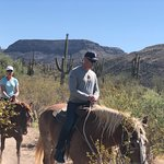 Riding Gizmo and Clyde through Black Canyon Desert, AZ