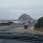 Driving up to Morro Rock