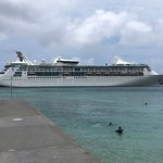 One of Royal Caribbean ships docking as I sat on the beach!