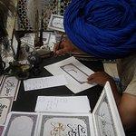 Un escribano en una madrasa de Marrakesh