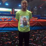 My son at Sevier Air , Trampoline park