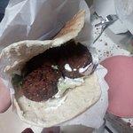 "Kebab falafel ""bem"" recheado..."