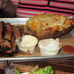 Beef brisket, baked potato