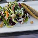 Sea bass with beet salad