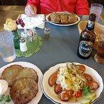 Stuffed Cabbage, Potato Pancakes, Knockwurst