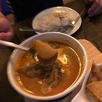 massaman curry with huge chicken piece
