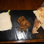 Liver pate with toast.