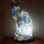 The artsy lamp in our suite