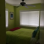one of the two bedrooms. The other was more bright pink.