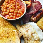 Medium full English Breakfast - - served all day