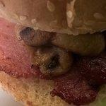 The Bar Bondia bacon bap with extra mushrooms