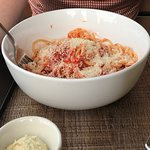 Classic Spaghetti Marinara with Parm