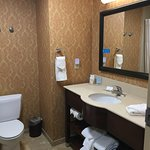 Nice bathroom with good water pressure.