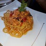 spaghetti col pesce di lago