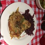 Natural Schnitzel with Red Cabbage