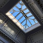 wonderful skylight in the stairwell