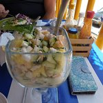 Ceviche with pineapple