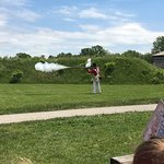 Musket demonstration- fun, educational visit