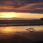 A very short walk onto the beach at sunset