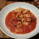 Penne all'Arrabbiata - garlic, cherry tomatoes, fresh tomato sauce and parsley.
