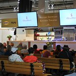 Cooking demonstrations, several times daily by various chefs.