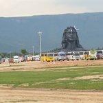 Adi yogi Shiva's grand idol