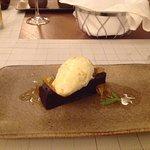 Very rich tasting dessert at Kerkyra with homemade style ice cream yum !