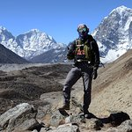 with khumbu glacier in mid ground