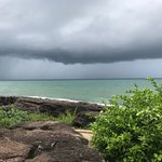 A storm passes by Mango Bay