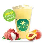 Peach Lychee Yogurt Drink