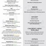 The Nawaab Saab Sunday Banquet Menu