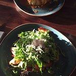 Pork Belly & Black Pudding and Chorizo Salad